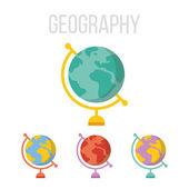 Vector globe icons — Stock Vector