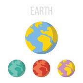 Vector Earth icons — Stock Vector