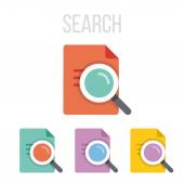 Vector search icons — Stock Vector