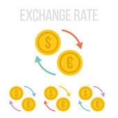 Vector exchange rate icons — Stock Vector