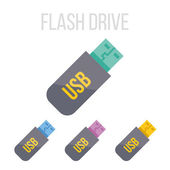 Vector flash drive icons — Stock Vector