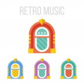 Vector jukebox icons — Stock Vector