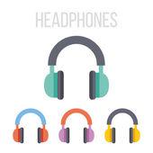 Vector headphones icons — Stock Vector