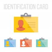 Vector identification card icons — Stock Vector