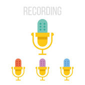 Vector microphone icons — Stock Vector