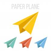 Vector paper plane icons — Stock Vector