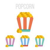Vector popcorn icons — Stock Vector