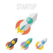 Vector rocket icons — Stock Vector