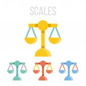 Vector scales icons — Stock Vector