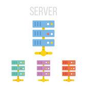 Vector server icons — Stock Vector