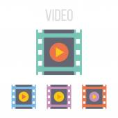 Vector video frame icons — Stock Vector
