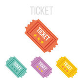 Vector vintage ticket icons — Stock Vector