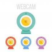 Vector webcam icons — Stock Vector