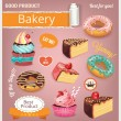 Vector baking illustration color set — Stock Vector #65583733