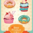 Vector baking banner color set — Stock Vector #65584353