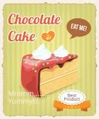 Vector chocolate cake banner — Stock Vector