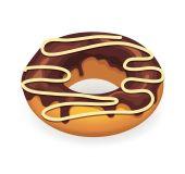 Vector chocolate donut illustration — Stock Vector