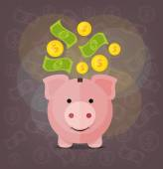 Vector piggy bank flat illustration — Stock Vector