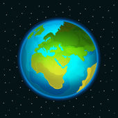 Vector Planet Earth illustration — Stock Vector