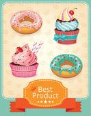 Vector baking banner color set — Stock Vector