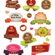 Vector Stickers Labels and Badges Set — Stock Vector #66887951