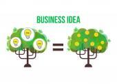 Vector business tree. Idea illustration — Stock Vector