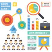 Vintage infographics elements. Set 1. — Stock Vector