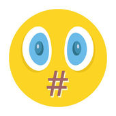 Vector smiley. Moderation, censorship or swear words concept — Stock Vector
