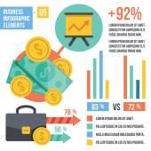 Vintage infographics elements. Set 5. — Stock Vector