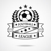 Vintage football badge — Stock Vector