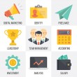 Vector business and marketing icons set. Set 2 — Stock Vector #68174447
