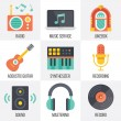 Vector music icons set. Set 11 — Stock Vector #68174533