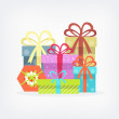 Vector gift boxes — Stock Vector #68174791