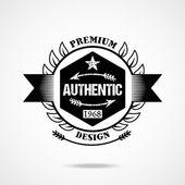 Original vintage badge — Stock Vector