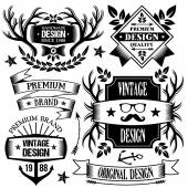Vintage badges, labels and ribbons set 2 — Stock Vector