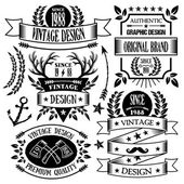 Vintage badges, labels and ribbons set 1 — Stock Vector