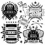 Vintage badges, labels and ribbons set 3 — Stock Vector