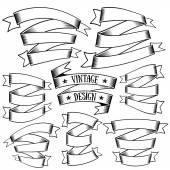Vintage ribbons set — Stock Vector