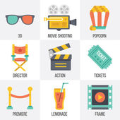 Vector cinema icons set. Set 12 — Stock Vector