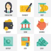 Vector banking and finance icons set. Set 3 — Vecteur