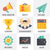Vector business and marketing icons set. Set 2 — Stock Vector