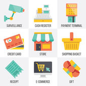 Vector retail and ecommerce icons set.  Set 6 — Stock Vector