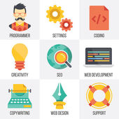 Vector web development, seo, and web design icons set. Set 4 — Stock Vector