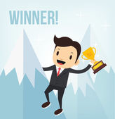 Vector business winner illustration — Stock Vector