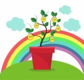 Tree of ideas — Stock Vector