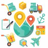 Delivery illustration. Logistic concept. — Stock Vector