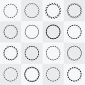 Abstract round frames and shapes set — Stock Vector
