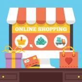 Online shopping. Electronic retail concept — Vetor de Stock