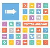 Colorful arrows icons set. Vector illustration — Stock Vector