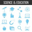 Science and education icons set — Stock Vector #69814803